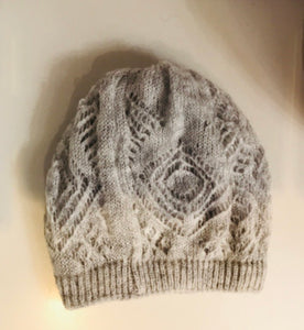 Baby lace grey hat