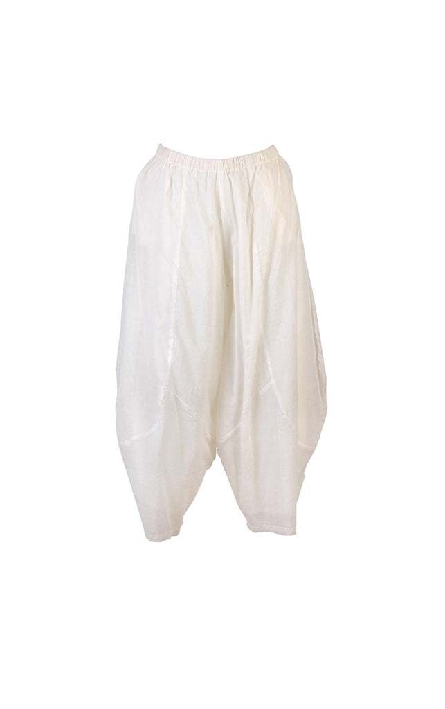 white cotton pantaloons