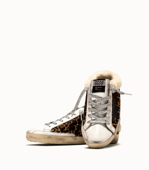 Superstar slip-on shearling leopard sabot sneaker