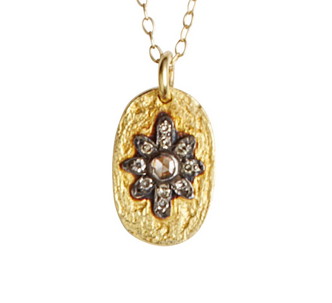 Manu gold and diamond necklace