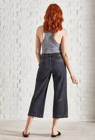 Octane Waxed Capri Jeans by Saltspin