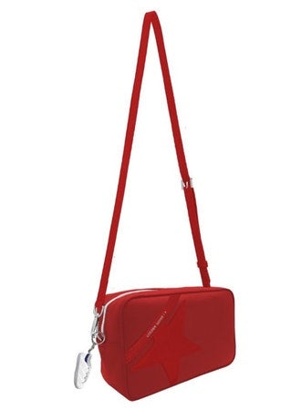 Star Bag with shoulder strap made of pebbled leather