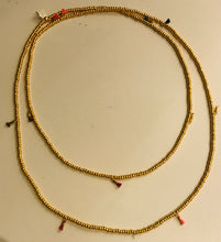 Load image into Gallery viewer, Gold bead necklace