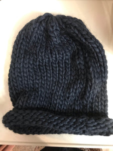 Kal Chunky Knit Hat in Petrol