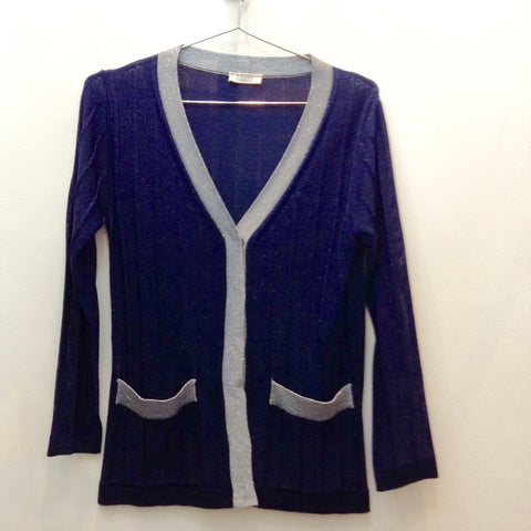 Dica navy lurex cardigan