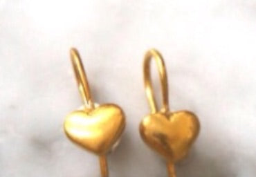 5octobre gold plate heart earrings