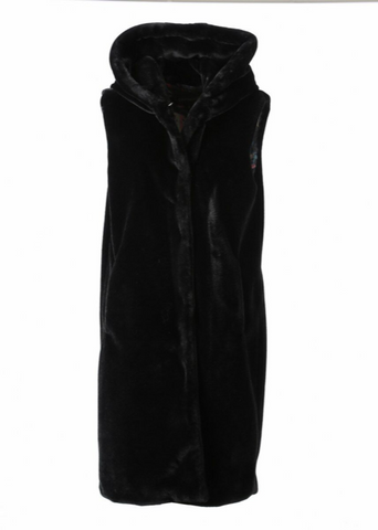 Long Gilet in Black