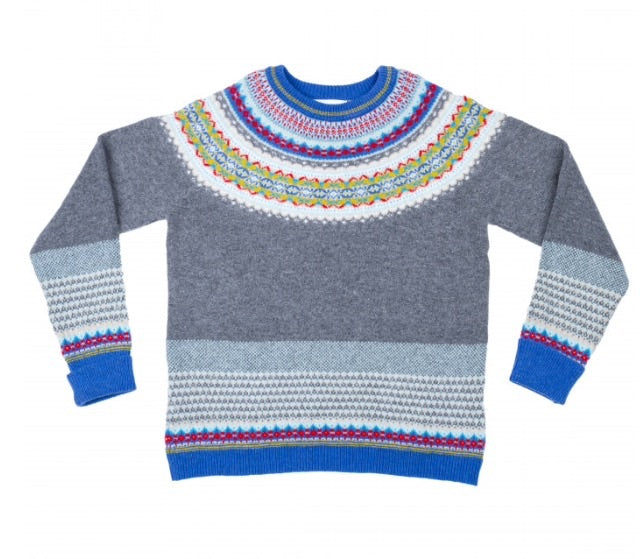 Fair Isle Knit in Blue Grey by Eribe