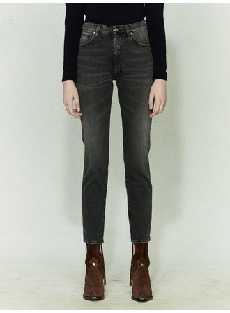 Leggy Grey Fade Jean by Golden Goose