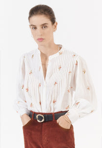 Kalinda white embroidered shirt