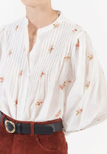 Load image into Gallery viewer, Kalinda white embroidered shirt