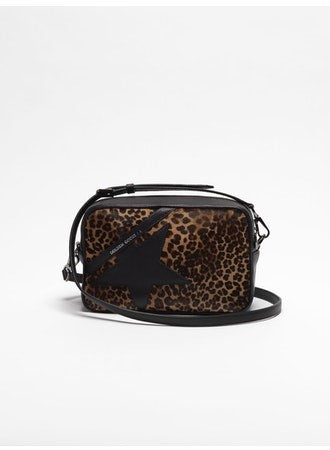 Star leopard print pony bag