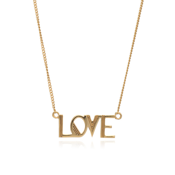 Rachel Jackson Love Necklace in Gold