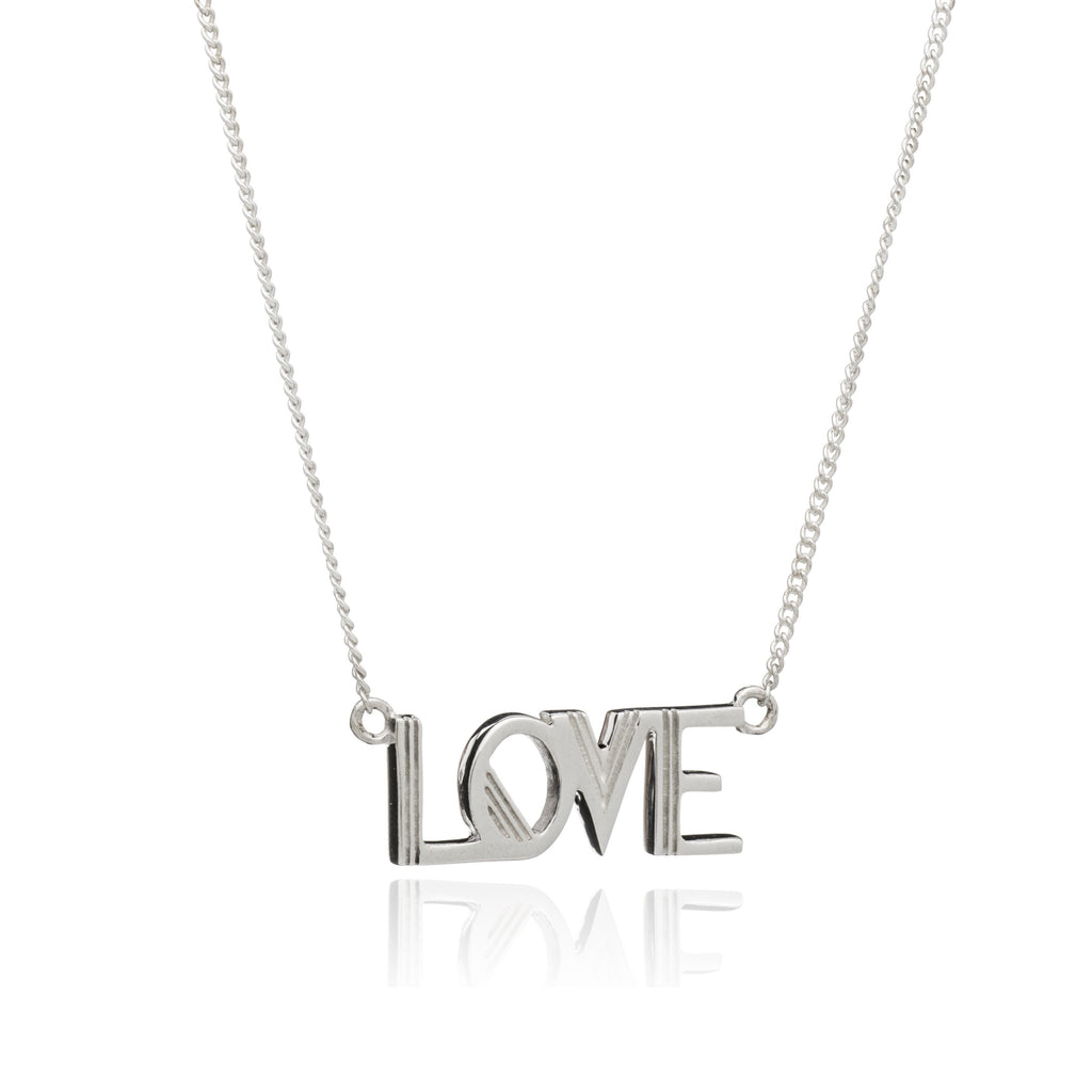 Rachel Jackson Love Necklace in Silver