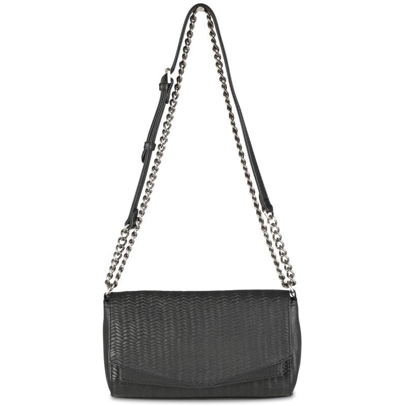 Markberg Crossbody Bag Woven Leather Charcoal