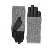 Load image into Gallery viewer, Leather Markberg Gloves in Black and Grey