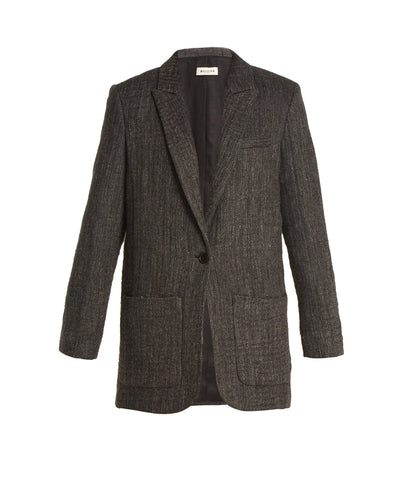 MASSCOB Herringbone Blazer Charcoal