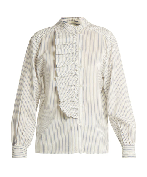MASSCOB Stripe Silk Shirt