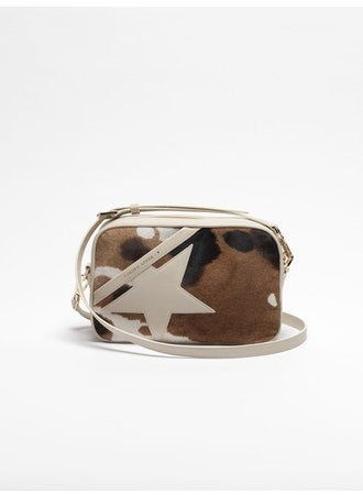 Star Bag made of cow print 'pony-effect' leather
