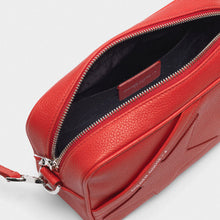 Load image into Gallery viewer, Star Bag in red pebbled leather