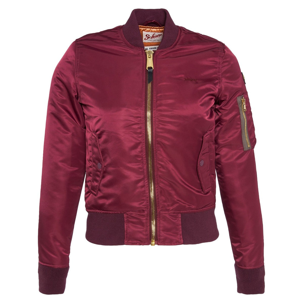 Schott Bomber Jacket Bordeaux