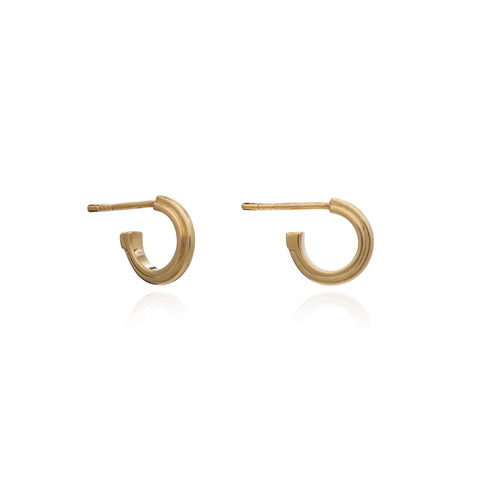 Rachel Jackson Mini Stepped Hoops in Gold