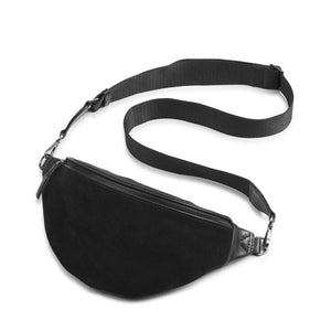 Crossbody Elinor bumbag in black suede