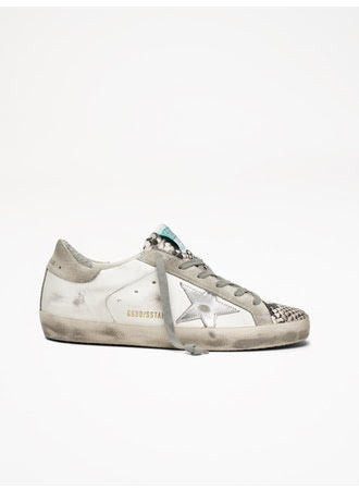 Superstar snake effect metallic star sneaker