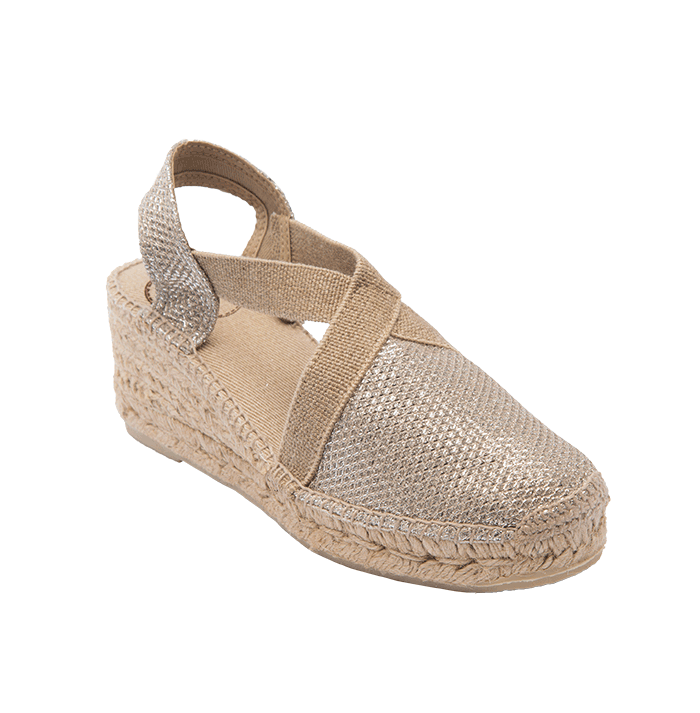 Platinum Espadrille in Rose Gold by Toni Pons