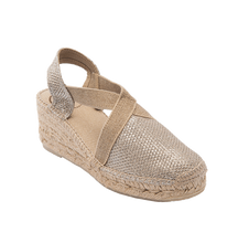 Load image into Gallery viewer, Platinum Espadrille in Rose Gold by Toni Pons