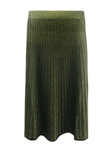 Melanie Press Diba Green glitter lurex skirt