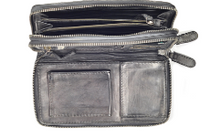Load image into Gallery viewer, Crossbody basketweave grey bag