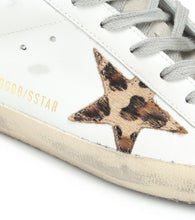Load image into Gallery viewer, Superstar white leather animal print sneaker