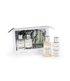Image of Acca Kappa's White Moss Travel Set includes travel sized shower gel, shampoo, conditioner and body lotion