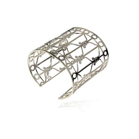 Art Deco Diamond Grid Cuff