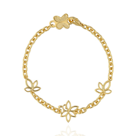 Paradise Sterling Silver Gold Plated Bracelet