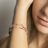Triple Multicolor Zirconia Bracelet - B2516