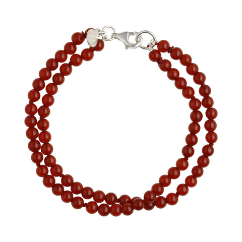 Double Red Agate Bracelet - B2514