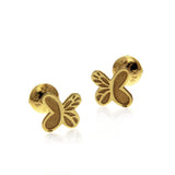 Baby Monarch Earring Gold 14k