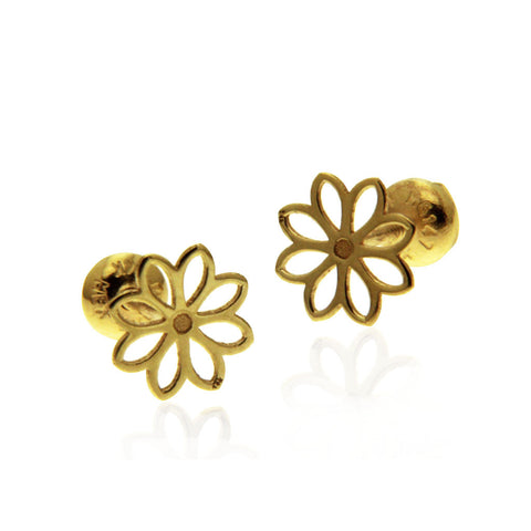 Baby Flower Earring Gold 14k