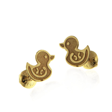 Baby Duck Earring Gold 14k