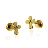 Baby Cross Earring Gold 14k