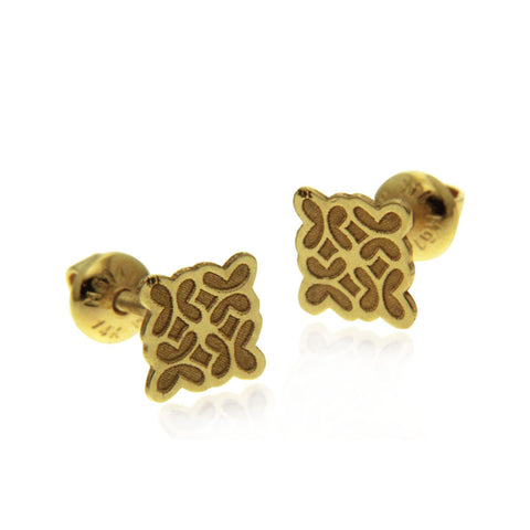 Baby Multi Butterfly Earring Gold 14k