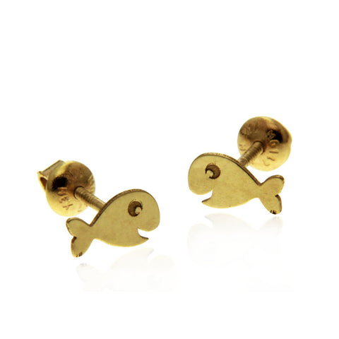 Baby Fish Earring Gold 14k