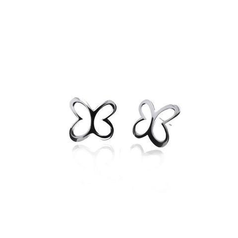 Mini Butterfly Silver Stud Earrings