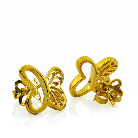 Vermeil Silver Monarch Stud Earrings