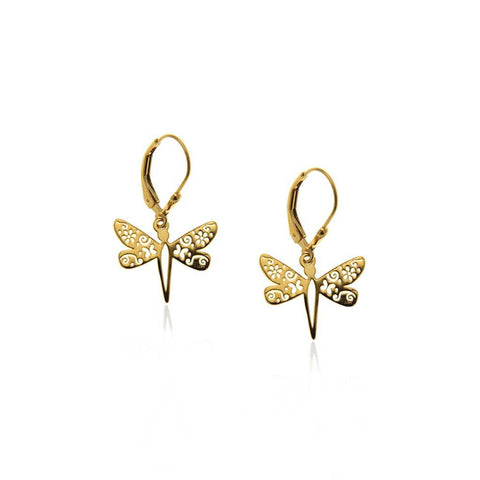Vermeil Silver Dragonfly Earrings