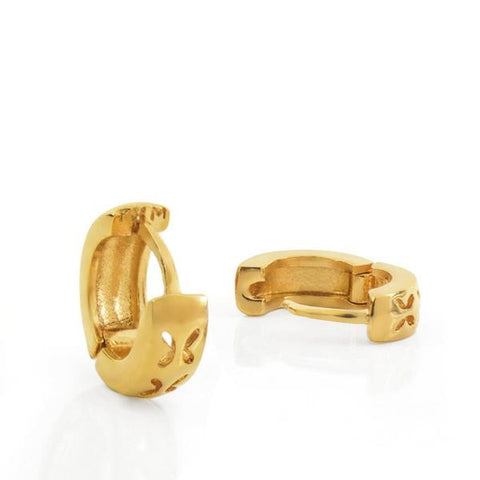 Vermeil Mini Silver Huggies Earrings