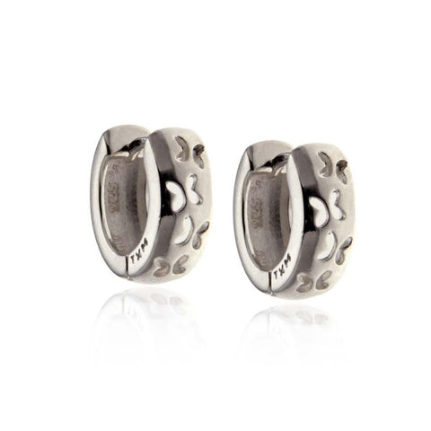 Silver Huggies Earrings