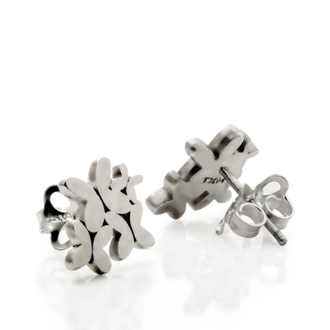 Silver Multi-butterflies Stud Earrings
